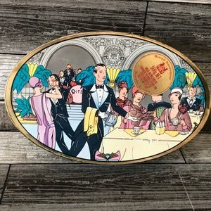 Tea at the Ritz Art Deco Style Biscuit Tin
